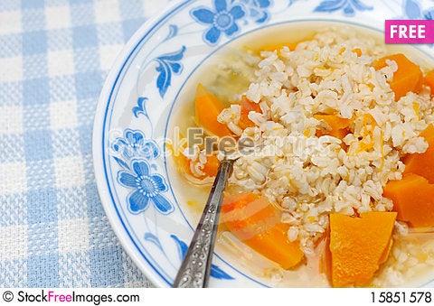 Free Simple And Healthy Porridge Royalty Free Stock Photos - 15851578