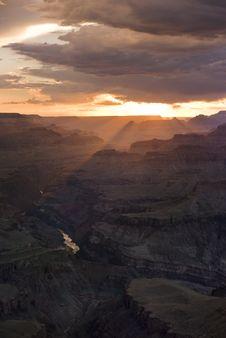 Free A Beautiful Grand Canyon Sunset Stock Photo - 15850070