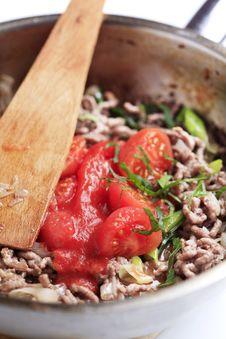Free Preparing Meat Dish Royalty Free Stock Photos - 15850118