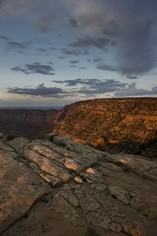 A Beautiful Grand Canyon Sunset Royalty Free Stock Image