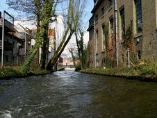 Bruges  Canal Stock Photography