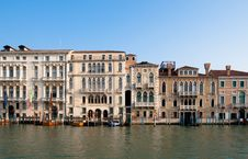 Free Venetians  Houses On The Grand Canal Royalty Free Stock Photography - 15850587