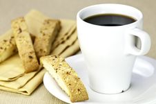 Free Coffee And Biscotti Stock Photography - 15850702