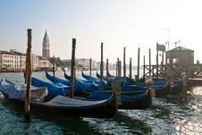 Free Cased Gondolas On Parking Station Royalty Free Stock Photos - 15850768