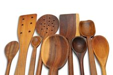 Free 29 Wooden Spoons Stock Image - 15851031