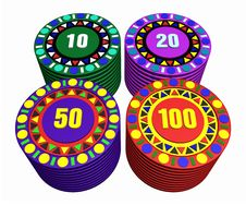 Free Casino Chips Stock Photo - 15851410