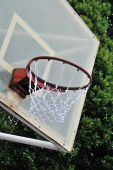 Free Close Up Of Basketball Hoop Royalty Free Stock Photography - 15851497