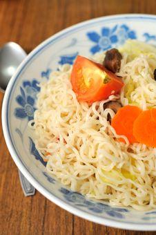 Free Vegetarian Noodles Stock Image - 15851521