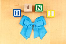 H1N1 With Blue Ribbon Stock Photo