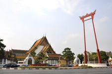 Free Sao Chingcha Wat Suthat Bangkok Stock Photography - 15852272