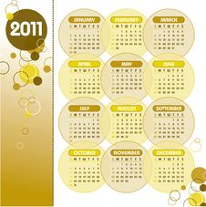 Free 2011 Calendar. Stock Photography - 15852982