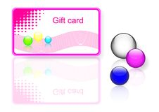 Free Pink Gift Card. Vector Eps10. Royalty Free Stock Photo - 15853055