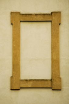 Yellow Stone Rectangular Frame On A Wall Royalty Free Stock Images