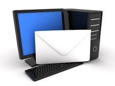 Free Computer And Letter Stock Photo - 15853390