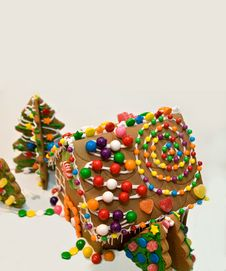 Gingerbread House With Copy Space Royalty Free Stock Photography