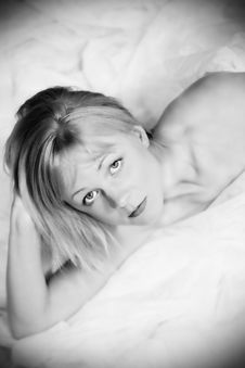 Free Beautiful Sexy Blond Woman Royalty Free Stock Images - 15853599