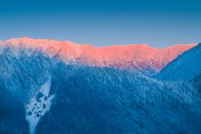 Free Sunrise In Winter Mountains Stock Image - 15853631