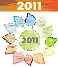 Free Stylish Calendar For Year 2011 (starts Sunday) Stock Photo - 15853710