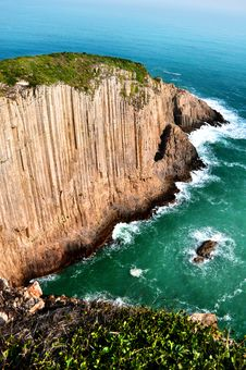 Steep Cliff Sea Stock Photo