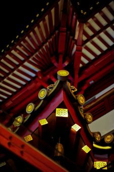 Free Chinese Temple S Curved Roof Stock Photography - 15854052