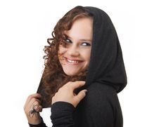 Free Woman In A Hood. Royalty Free Stock Photography - 15854117