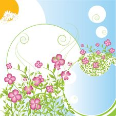 Free Abstract  Floral Background Stock Image - 15854201