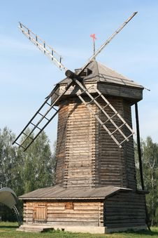 Free Old Wooden Windmill Stock Photo - 15854290