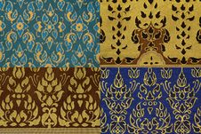 Free Thai Print Cloth Texture Royalty Free Stock Image - 15854436