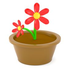 Free Cartoon Flowers Royalty Free Stock Image - 15854746