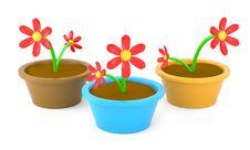 Free Cartoon Flowers Stock Photos - 15854753