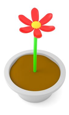 Free Cartoon Flower Stock Images - 15854804