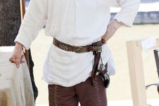 Free Man Wearing An Old Belt Royalty Free Stock Photo - 15857605