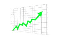 Free Business Graph Arrow Green Stock Photos - 15857953