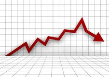 Free Business Graph Arrow Red Stock Photos - 15858023