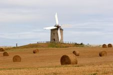 Free Windmill With Hay Stock Photography - 15858712