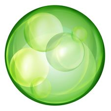 Clear Green Ball On White Background Royalty Free Stock Photography