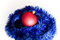 Free Red Bomblet On Blue Christmas Chain Stock Photos - 15861463
