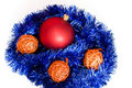 Free Bomblets On Christmas Chains Isolated Stock Photos - 15861593