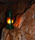Free Lamp On A Cave Wall Stock Images - 15862964