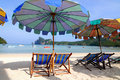 Free Beach Umbrellas And Sunbeds Stock Photos - 15864093