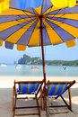 Free Beach Umbrellas And Sunbeds Stock Images - 15864094