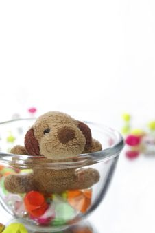 Free Teddy Pear And Star Stock Images - 15860004