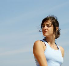Free Beautiful Young Woman Looking In The Distance Stock Image - 15860071