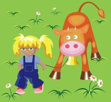 Free Farmer Girl Royalty Free Stock Photo - 15860245
