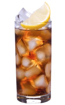Free Cocktail With Lemon And Cola Stock Photography - 15860522
