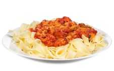 Free Pasta With Meat Sauce Stock Image - 15860571