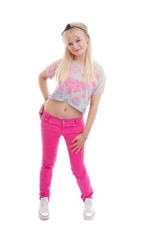 Free Pretty Young Blond Girl Posing Stock Photography - 15860762