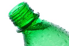 Plastic Bottle With Water Drops Royalty Free Stock Photos