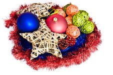 Free Colorful Christmas Decorations Isolated Royalty Free Stock Photos - 15861028