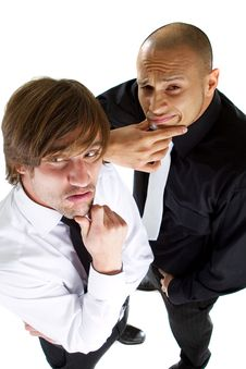 Two Funny Businessmen Stock Photo